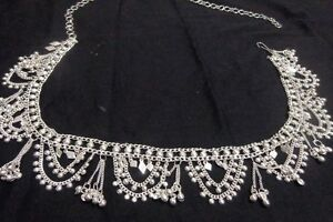 Banjara-women-silver-coin-Hip-Belt-Belly-Dance-metal-waist-club-India-scarf