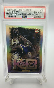 1998 Collectors Edge #3 Kobe Bryant Impulse KB8 Alternate Holo PSA 8! HOF 2021!