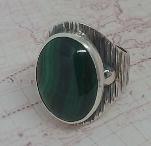 Authentic-Natural-Malachite-Edelstein-Tuerkei-925-Sterling-Silber-Woman-Ring