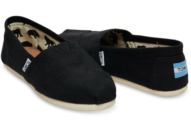 New Authentic Mens Toms Classic Canvas Slip On Shoes