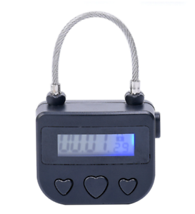 Time-Lock-Electronic-Timer-with-039-Heart-039-Button-Multi-purpose-For-cuffs-Mouth-Gag