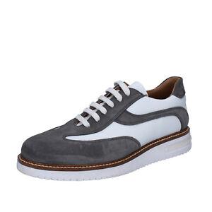 c 41 Fdf Eu Gris Cuir Bz385 Chaussures Chaussures Daim Blanc Homme Classique wgqWUSS7RP