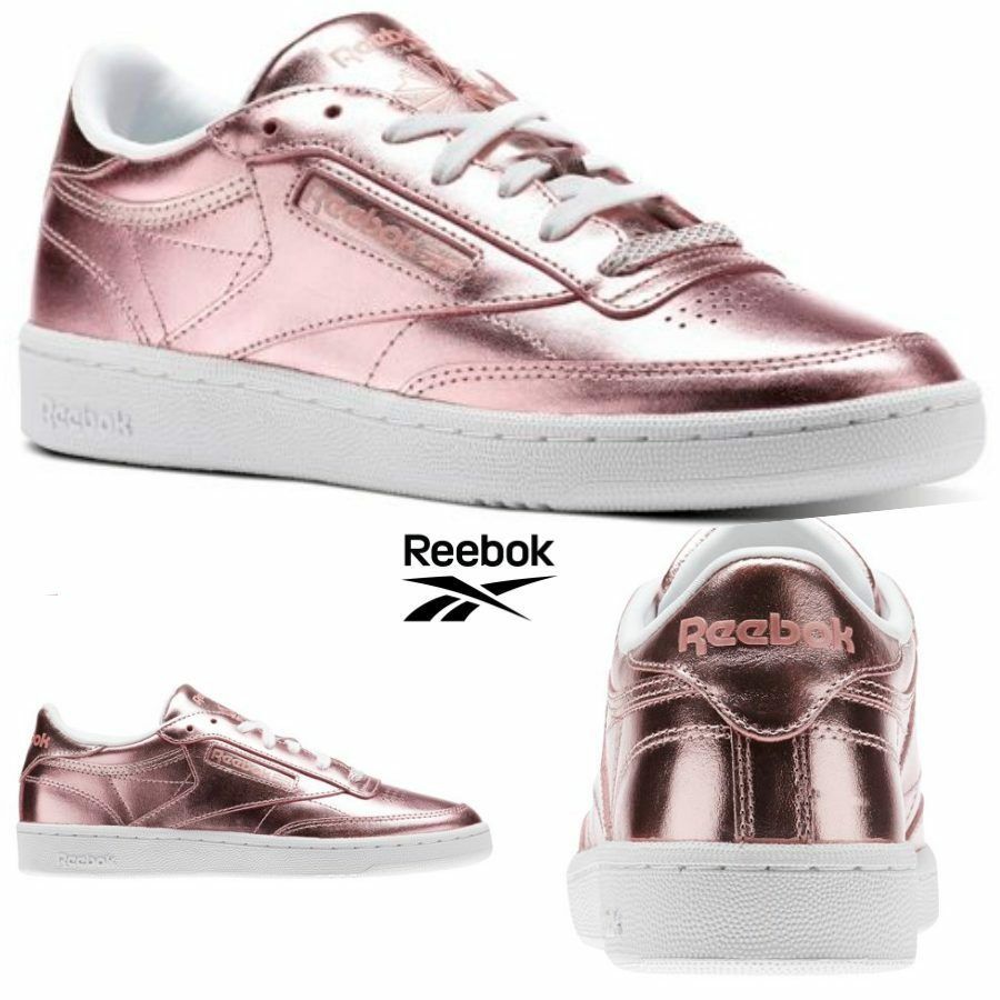 Reebok Classic Club C 85 S Shine Shoes  Rose Gold CN0512 SZ 4-12.5