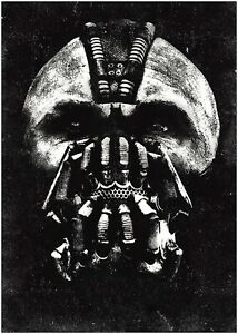 Batman Mask The Dark Knight Rises Movie Poster Art Print A0 A1 A2 A3 Maxi