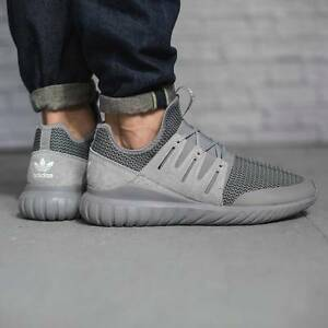Image is loading ADIDAS-ORIGINALS-TUBULAR-RADIAL-CHARCOAL-SOLID-GREY-MEN-