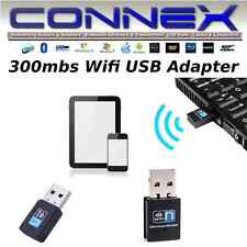 CONNEX USB WiFi Adapter 300mbs -Windows Mac Linux w/Driver AirNet300 802.11n,g,b