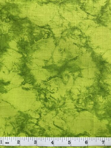 Marble Pattern Quilt Fabric Lime Green Half Yard