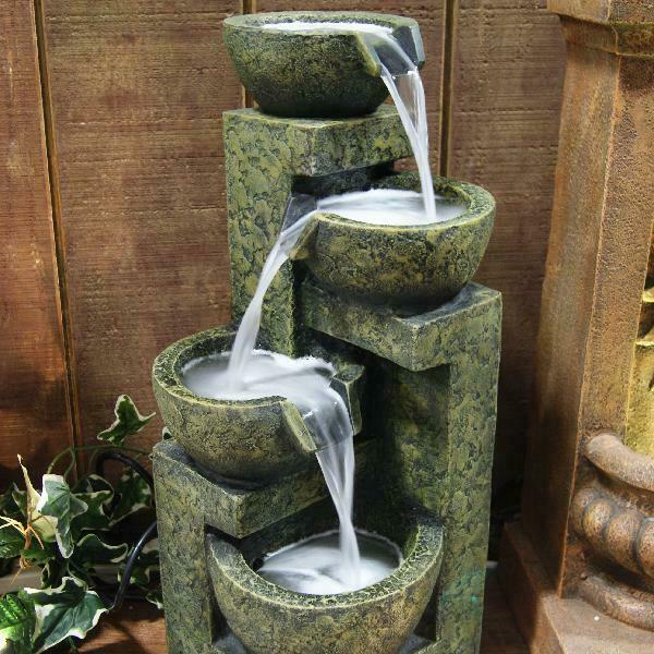 Outdoor Water Fountain Waterfall Old