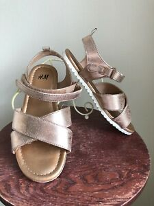 M Rose Gold Sandals Girls Youth Size