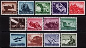 THIRD-REICH-1944-mint-never-hinged-Warmachines-stamp-set