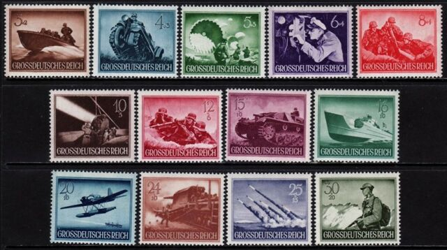 THIRD REICH 1944 mint never hinged Warmachines stamp set!