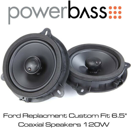 """Powerbass OE652-FD Ford Repuesto Custom Fit 6.5/"""" 120W Coaxial Altavoces"""