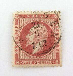 NORWAY-c1856-KING-OSCAR-8sk-UH-STAMP