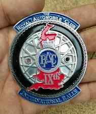 ROYAL AUTOMOBILE Club Car Badge INTERNATIONAL RALLY IXth CLUB VINTAGE REPRO AA