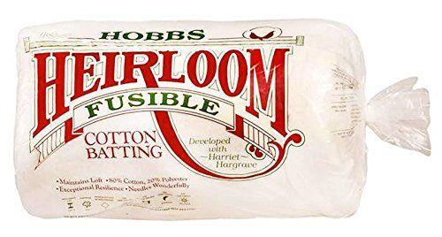 White Hobbs 45 x 60-Inch Crib Heirloom Fusible Blend Batting