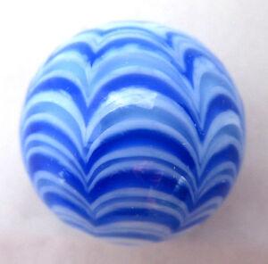 "DemüTigen 25mm Blau Rialto Handgefertigt Kunstglas Muster Design Murmeln Ball Groß 1 "" Murmeln"