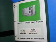 Sullair Air Compressor Operators Manual Amp Parts List 25 30 Electric Rotary