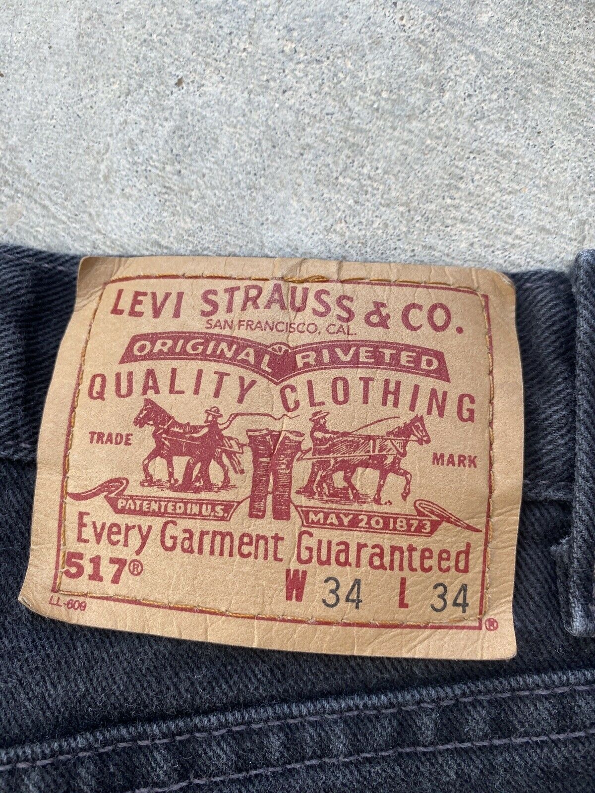 Vintage Levis 517 34x34  made in USA Black Relaxe… - image 4