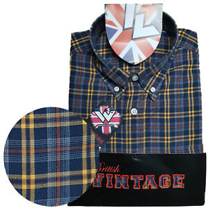 Warrior-UK-England-Button-Down-Shirt-BILLY-HUNT-Hemd-Slim-Fit-Skinhead-Mod