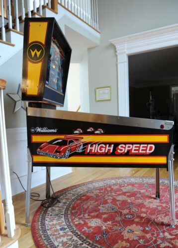 High Speed 1986 Williams pinball machine New playfield! Details about  /Beautifully restored