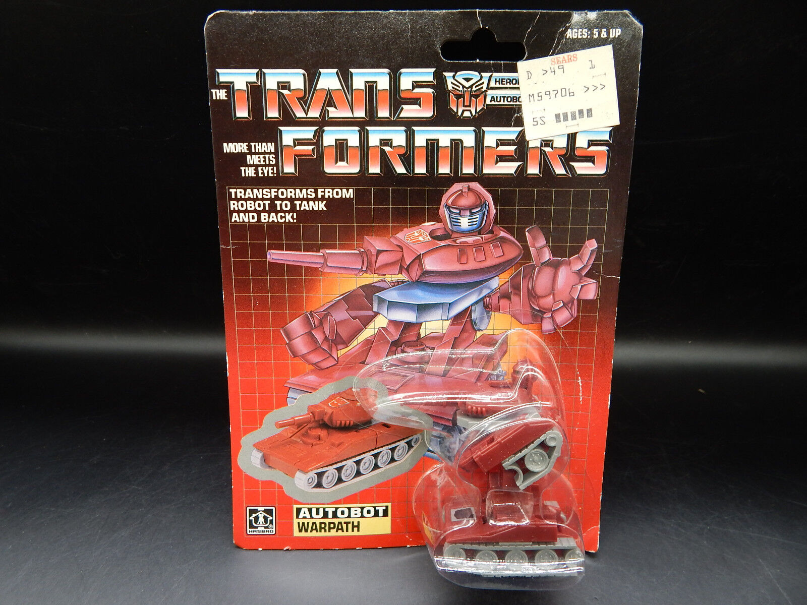 MOC vintage WARPATH Hasbro Transformers Autobot mini car SEALED original toy MIP