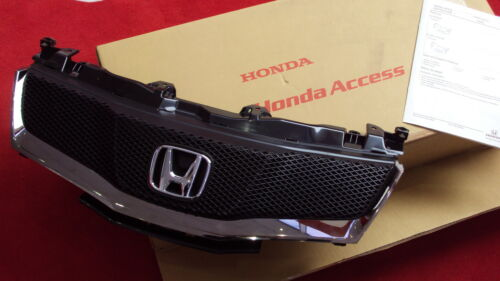 Bumper Grill Genuine Honda Civic 2007-11 Front Sports Mesh /& Chrome Grille