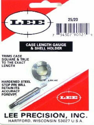 LEE 90121 25-20 WINCHESTER WCF CASE LENGTH GAUGE /& SHELL HOLDER
