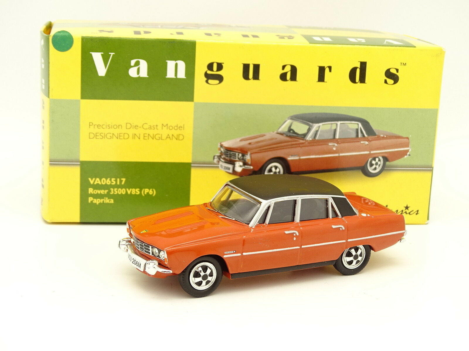 Vanguards 1 43 - Rover 3500  V8 S P6 Paprika  grand choix et livraison rapide