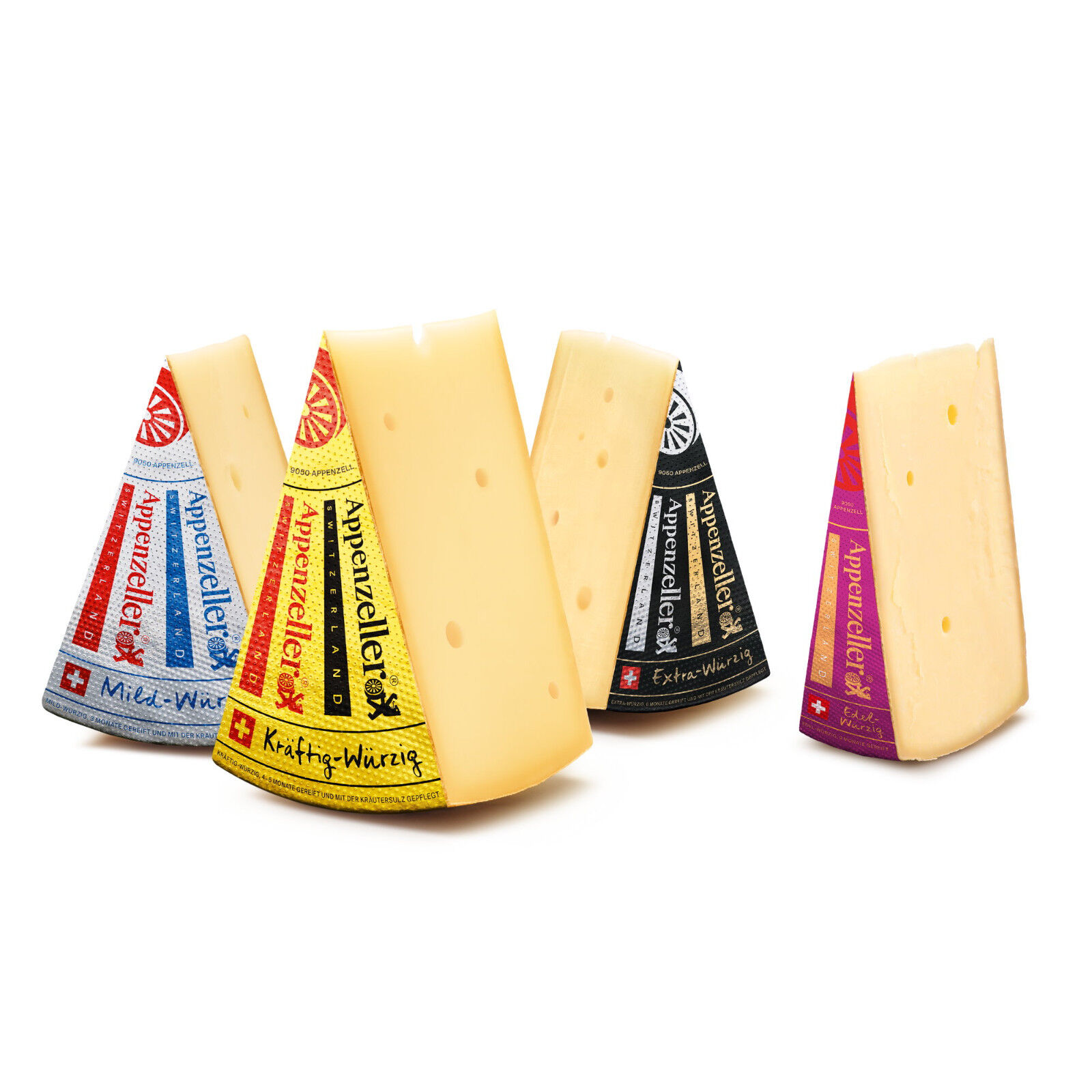 Appenzeller Käse AOP Sortiment 4x300 Gramm