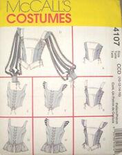 Misses Renaissance Costume Tops Pattern Mccall's 4107 Sizes 10 - 16