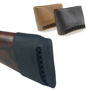 Rubber-Slip-On-Recoil-and-Extension-Pad-for-Rifle-Shotgun-Buttstock-Black-Tan