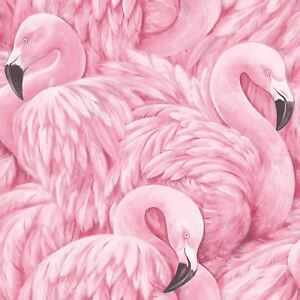 FLAMINGO-WALLPAPER-RASCH-277890-PINK-WALLPAPER-FEATURE-WALL-DECOR-NEW