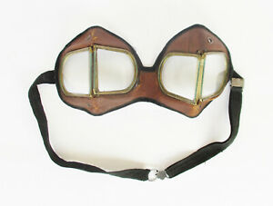 ANTIQUE-AVIATOR-MOTORCYCLIST-GLASSES-SAFETY-GOGGLES-GLASSES-MILITARY-GLASSES