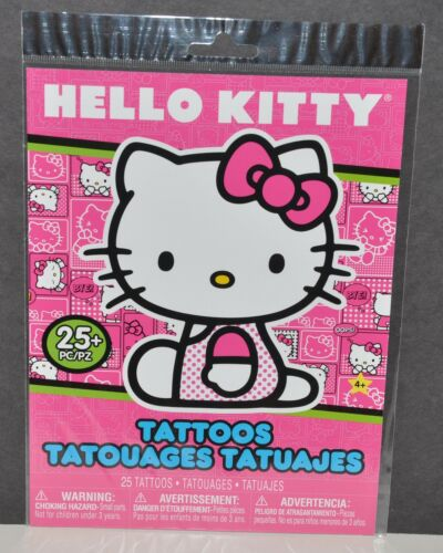 HELLO KITTY PARTY FAVORS SANRIO STICKERS TATTOOS SET 25 STICKERS 25 GIRLS craft