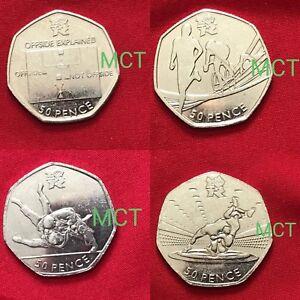 Fifty-Pence-50p-Coin-Olympic-Kew-Gardens-Beatrix-Triathlon-Judo-Offside-Tennis