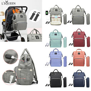 LEQUEEN-Waterproof-Diaper-Bag-USB-Charging-Large-Capacity-Mummy-Nursing-Backpack