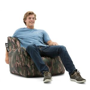 Attrayant Details About Camo Bean Bag Chair Video Games TV College Dorm Room Bedroom  Kids Adults Comfort