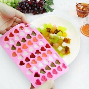 55-Amore-Cuore-Silicone-Ghiaccio-Vassoio-Stampo-Cioccolato-Caramelle-Gomme-Maker