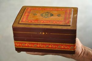Vintage-Fine-Handcrafted-Unique-Kashmiri-Lacquer-Work-Jewellery-Box