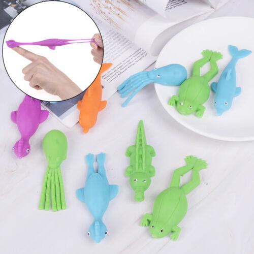 1Pc cute stretchy finger slingshot sticky flying marine animal kids toys FO