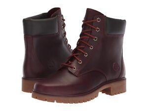 Donna-Scarpe-Timberland-Jayne-6-pollici-Waterproof-Boot-Borgogna-TB0A1SFD-NUOVO