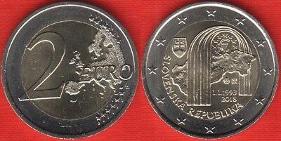Formation of Slovak Republic 25 years 2 Euro 2018 Slovakia commemorative coin
