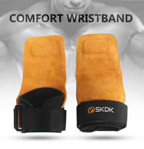 SKDK-Deadlift-Grips-Gym-hand-Strap-Palm-power-hooks-Pull-UP-Pad-wrist-support