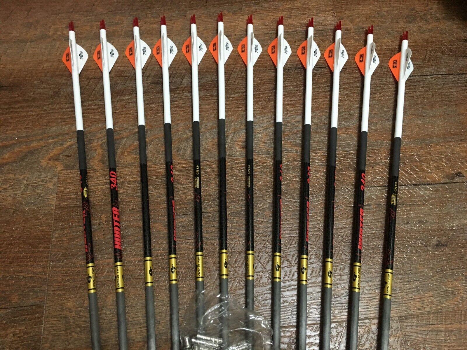 Oro Tip Hunter 400 flechas con Personalizado Blazer Paletas Personalizado con Juego De 12 993d01