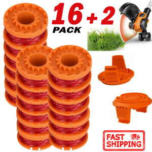 16-Pack-Spool-Line-amp-Spool-Cap-Cover-for-Worx-Grass-Trimmer-WA0010-WA6531-10ft