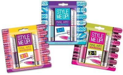 Style Me UP Nagel Stifte Nagellack Nageldesigner-Set Nail Art Markers  NEU