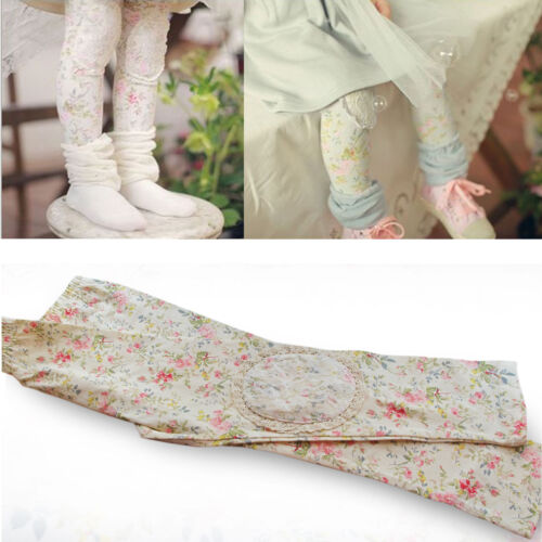 girls legging flowers pattern//elegant lace party legging 2-7 Years