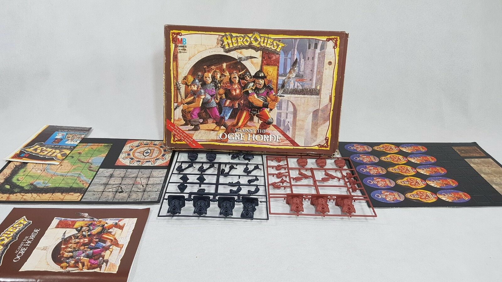 HeroQuest Against the Ogre Horde, RARE collectible version, on sprues [ENG,1992]