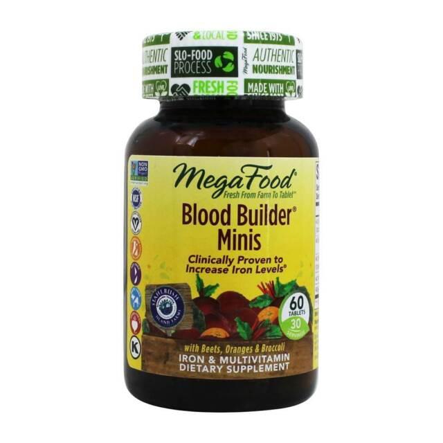 MegaFood - Blood Builder Minis Iron & Multivitamin Supplement - 60 Tablets