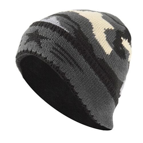 Men/'s Women Camouflage Knitted Wool Cap Casual Fleece Winter Outdoor Beanie Hat